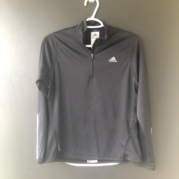 adidas Jackets & Blazers - Adidas Black White Zip Up Sweater Small
